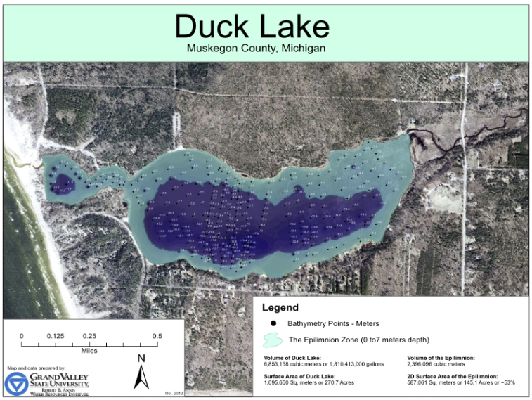 Duck L. bathymetry