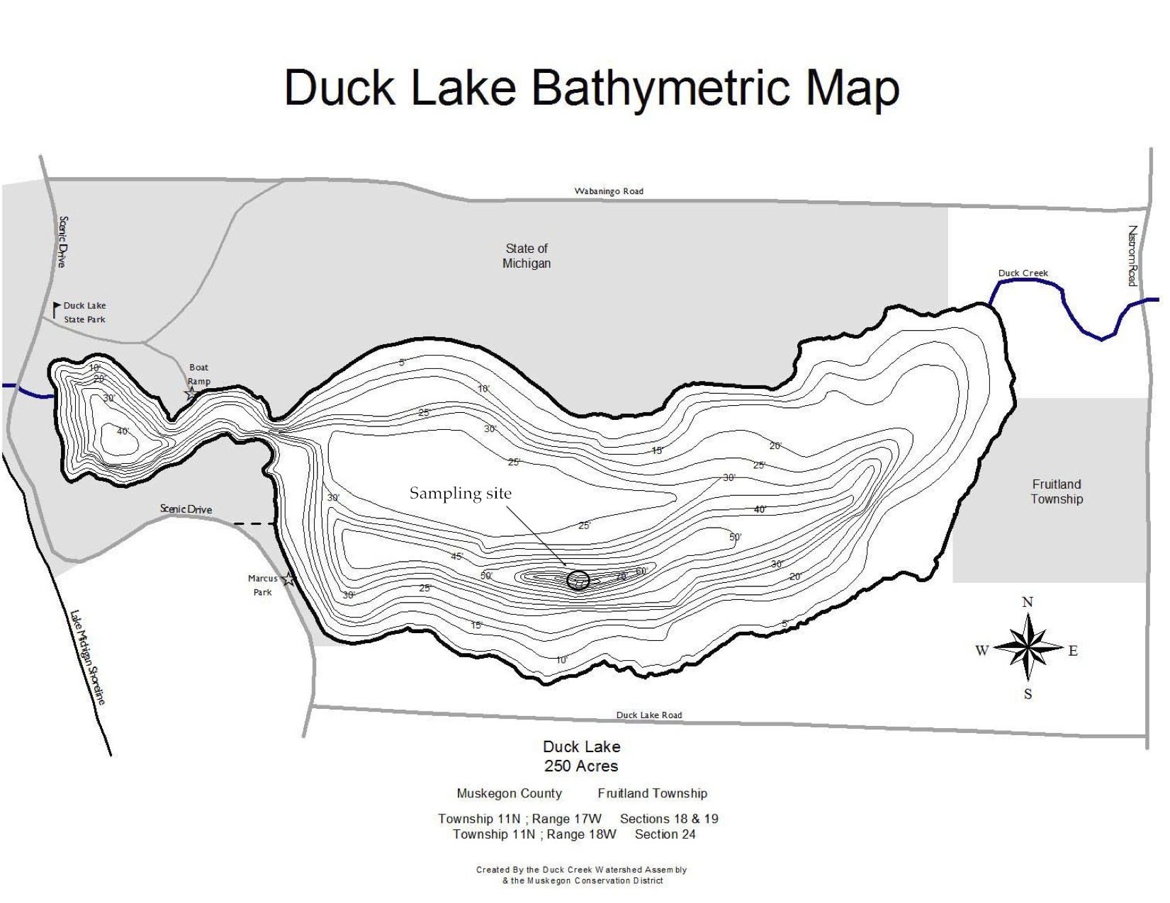 Duck Lake Bathymetric Map-2